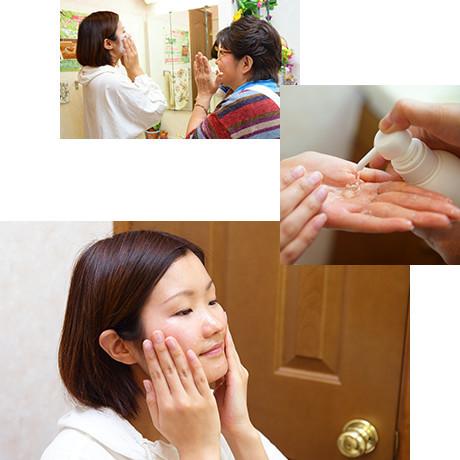 洗顔指導!